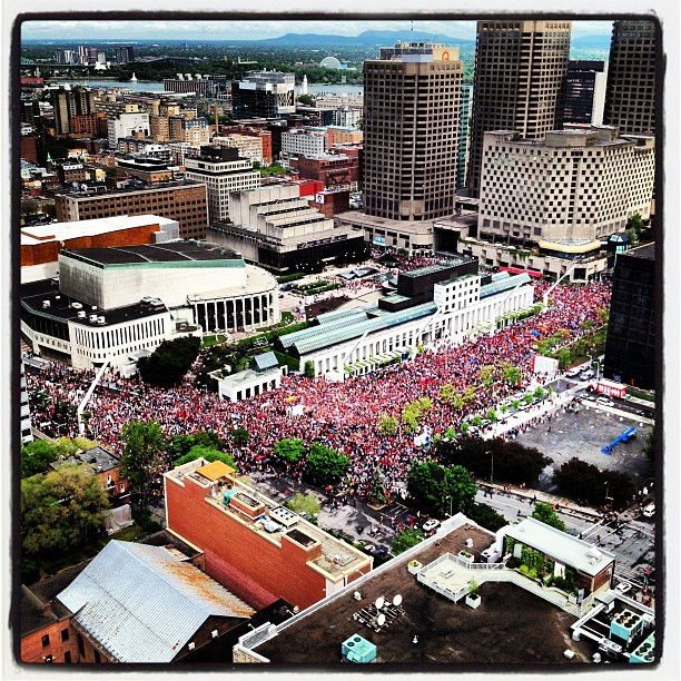 22 Mai protest in Montreal by Philip Miresco